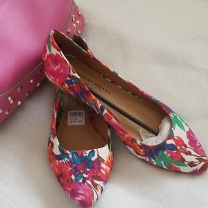 Colorful flower printed flats